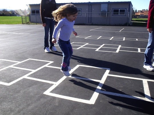 fun fundraising idea The Longest Hopscotch