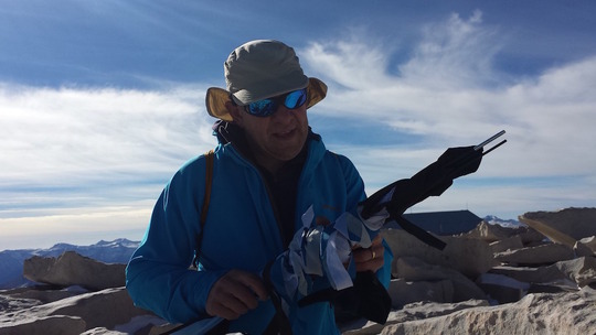 fun fundraising idea Fly the kite on the top of Mt. Whitney